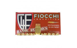 Fiocchi 223ARD Range Dynamics .223/5.56 NATO 55 GR Full Metal Jacket Boat Tail - 1000rd Case