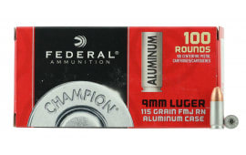 Federal CAL9115100 9mm Luger 115  GR Full Metal Jacket - 100rd Box