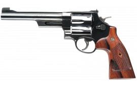 """Smith & Wesson 150256 25 Classic DA/SA .45 LC 6.5"""" 6 Walnut Square Butt Blued Revolver"""
