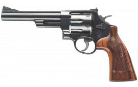 "Smith & Wesson 150481 57 Classic DA/SA .41 Mag 6"" 6 Walnut Square Butt Blued Revolver"