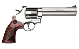 "Smith & Wesson 150714 629 Deluxe DA/SA .44 6.5"" 6 Wood Stainless Revolver"