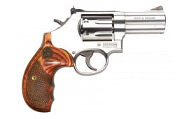 "Smith & Wesson 150713 686 Plus Deluxe DA/SA .357 3"" 7 Wood Stainless Revolver"