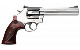 "Smith & Wesson 150712 686 Plus Deluxe DA/SA .357 6"" 7 Wood Stainless Revolver"