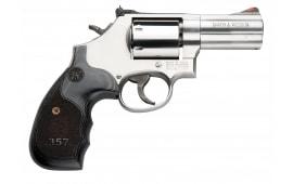 "Smith & Wesson 150853 686 Plus Magazine DA/SA .357 3"" 7 Wood Stainless Steel Revolver"