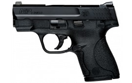 """Smith & Wesson 187021 M&P Shield *CA Compliant* Double 9mm 3.1"""" 7+1/8+1 Black Polymer Grip Black"""