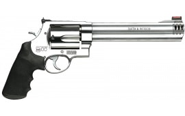 "Smith & Wesson 163501 500 Standard Stainless DA/SA 500 Smith & Wesson 8.4"" 5 Black Synthetic Stainless Revolver"