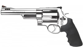 "Smith & Wesson 163565 500 Standard Stainless DA/SA 500 Smith & Wesson 6.5"" 5 Black Synthetic Stainless Revolver"