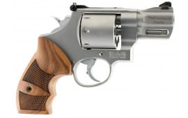 "Smith & Wesson 170133 627 DA/SA .357 2.6"" 8 Wood Stainless Revolver"