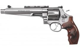 "Smith & Wesson 170181 629 Performance Center DA/SA .44 7.5"" 6 Wood Stainless Revolver"