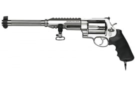 "Smith & Wesson 170280 460 Performance Center XVR Dual Rail DA/SA .460 S&W Mag 12"" 5 Black Synthetic Stainless Revolver"