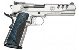 "Smith & Wesson 170343 1911 Single .45 ACP 5"" 8+1 Custom Wood G10 Grip Stainless"