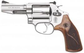 "Smith & Wesson 178013 60 Pro DA/SA .357 3"" 5 Wood Stainless Revolver"