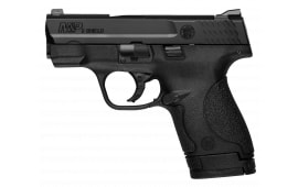 """Smith & Wesson 10038 M&P Shield *MA Compliant* Double 9mm 3.1"""" 7+1/8+1 No Manual Safety Black Poly Grip/Frame Black Armornite Stainless Steel"""