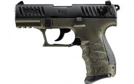 Walther .22L.R Semi-Auto Pistol 10 Round  P22Q -  O.D. Green and Black - Model # 5120715