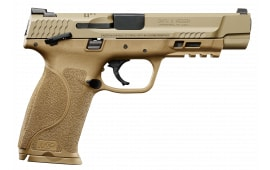 "Smith & Wesson 11595 M&P M2.0 Double 40 Smith & Weson (s&w) 5"" 15+1 TS 3Dot TS LCI Flat Dark Earth Interchangeable Backstrap Grip FDE Armornite Stainless Steel"