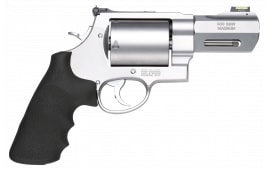 "Smith & Wesson 11623 500 Performance Center DA/SA 500 Smith & Wesson 3.5"" 5 Black Rubber Stainless Steel Revolver"
