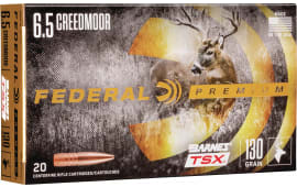 Federal P65CRDBTSX1 6.5 Creedmoor 130 BRN TSX - 20rd Box