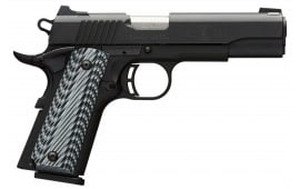 "Browning 051900492 1911-380 Black Label Pro SAO .380 ACP 4.25"" 8+1 3-Dot Black G10 Grip Black"
