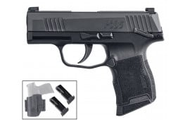 "Sig Sauer P365 Semi-Automatic Pistol 3.1"" Barrel 9mm W/ (3) 12rd Mags & IWB/OWB Holster - SIG3659BXR3MSTACPAC"