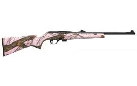 """Remington Firearms 80854 597 Camo Semi-Auto 22 LR 20"""" 10+1 Synthetic Mossy Oak Break-Up Pink Stock Blued"""