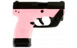"Beretta JMN9S65LMR BU9 Double 9mm 3"" 6+1/8+1 LaserMax Pink Polymer Grip/Frame Grip Black Aluminum Alloy"