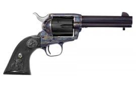 "Colt P2840 Single Action Army Black Powder Frame Single .45 LC 4.75"" 6 Black Composite Double Eagle Blued Revolver"