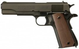 """Inland Manufacturing ILM1911 1911 A1 Government Single 45 ACP 5"""" 7+1 Grip Black Parkerized"""