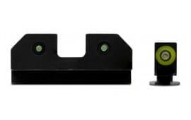 XS Sights GL-R013P-6G RAM 3 Dot Glock 20/21 Green