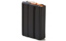ASC AR-15 .223/5.56 10rd Magazines, Black Marlube Coated Aluminum Body, Orange Follower