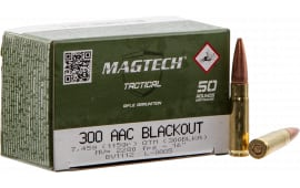 MagTech 300BLKA Rifle 300 AAC Blackout/Whisper (7.62X35mm) 115 GR Flat Base Hollow Point - 50rd Box