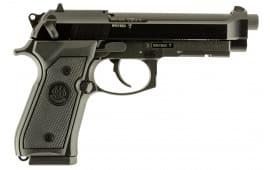 """Beretta J90A1M9A1F19 M9 22LR DA/SA 22 Long Rifle 4.9"""" 15+1 Black Rubber Grip Black Bruniton"""