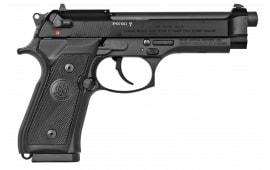 "Beretta J90AIM9F19 M9 22LR DA/SA 22 LR 5.3"" 15+1 Black Rubber Grip Black"