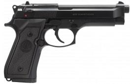 "Beretta J92M9A0MLE M9 DA/SA 9mm (3) 15rd Mags 4.9"" Barrel Synthetic Black Grips Bruniton Barrel"