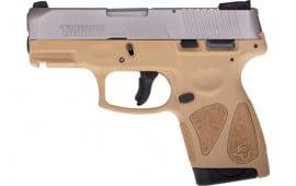 Taurus 1G2S939T G2S Slim 7rd3-DOT ADJ. SS/TAN Polymer