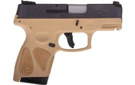 Taurus 1G2S4031T G2S Slim 6rd3-DOT ADJ. BLACK/TAN Polymer