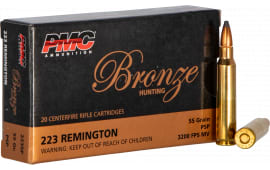 PMC 223SP .223 Remington 55 SP - 800rd Case of .55 Grain Soft Point Ammunition