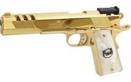 "Iver Johnson Arms GIJ41 Johnson Eagle XL Ported 6"" 24K Gold White Pearl"