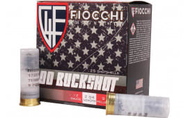 Fiocchi 12MW00BK 12 00 9PEL Buck Fieldbox - 25rd Box