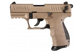 "Walther Arms 5120553 P22 DA/SA .22 LR 3.42"" 10+1 Black Interchangeable Backstrap Grip"