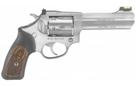 """Ruger 5773 SP101 327 Fed Mag Double .327 Federal Mag 4.2"""" 6 Black Rubber w/Wood Insert Stainless Revolver"""