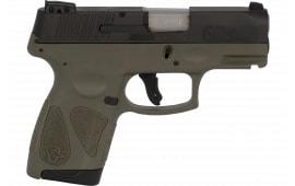 Taurus 1G2S931O G2S Slim 7rd 3-Dot ADJ. BLACK/OD Green Polymer