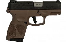 Taurus 1G2S931B G2S Slim 7rd3-DOT ADJ. BROWN/BLACK Poly