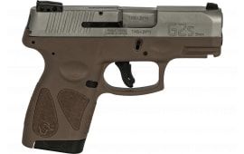 Taurus 1G2S939B G2S Slim 7rd3-DOT ADJ. SS/BROWN Polymer