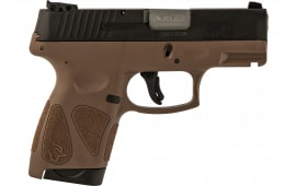 Taurus 1G2S4031B G2S Slim 6rd3-DOT ADJ. BLACK/BROWN Poly