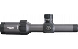 Sig Sauer Electro-Optics SOT61006 Tango6 1-6x 24mm Obj 107-17.7 ft @ 100 yds FOV 33mm Tube Dia Graphite/Black Illuminated MOA Crosshair