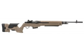 "Springfield Armory MP9220 M1A Loaded Semi-Auto .308 22"" 10+1 Precision Adjustable Synthetic FDE Stock Black"