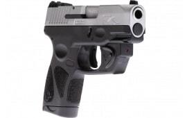 Taurus 1G2S939VL G2S Slim 7rdFixed w/LASER Stainless Polymr