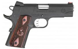 "Springfield Armory PI9126L 1911 Single 45 ACP 4"" 6+1 Rosewood Grip Black Parkerized"