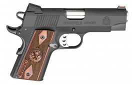 """Springfield Armory PI9125L 1911 Single 9mm 4"""" 8+1 Rosewood Grip Black Parkerized"""