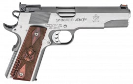 "Springfield Armory PI9122L 1911 Single 9mm 5"" 9+1 Cocobolo Grip Stainless Steel"